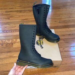 New Kid Girl's Dr. Martens Junior Black Tall Boots